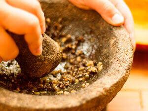 Semillas de Papaya trituradas