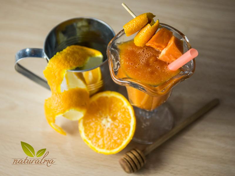 batido naranja papaya miel