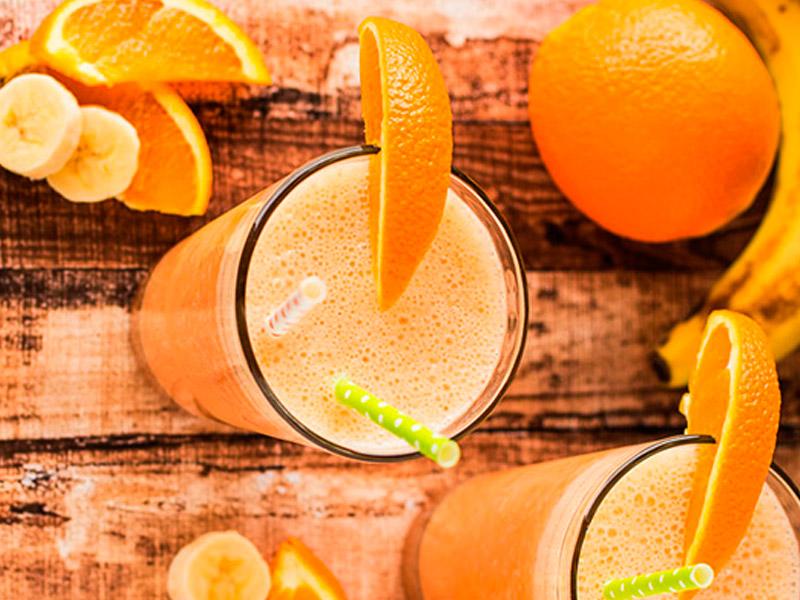 naranja platano caqui borojo