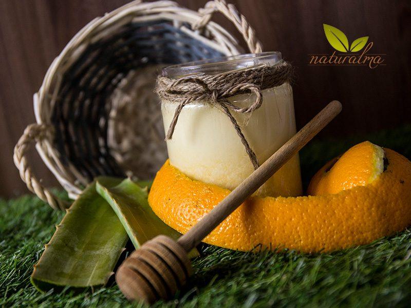 batido zumo naranja aloe vera clara de huevo miel